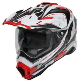 Moto helma Cyber UX-33, červeno-bílá