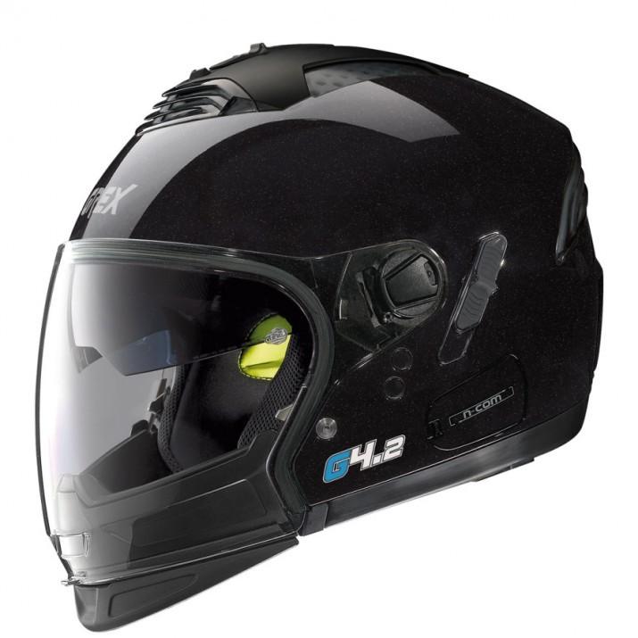 Moto helma Grex G4.2 PRO Kinetic N-Com Metal Black 1