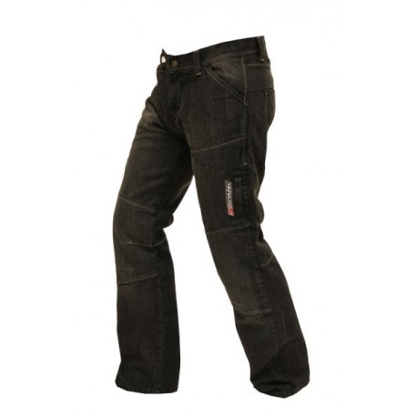 Pánské textilní moto kevlar kalhoty Metro, černé