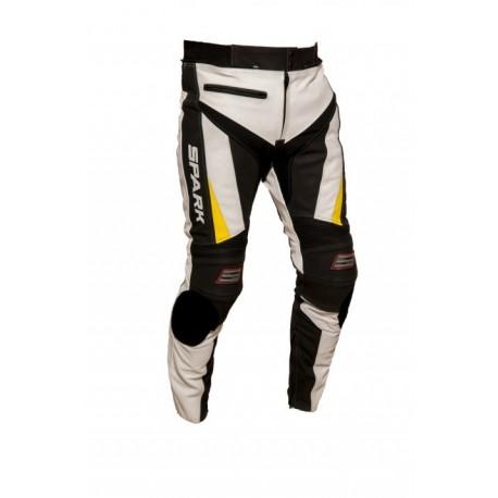Pánské kožené moto kalhoty Spark ProComp EVO, černé