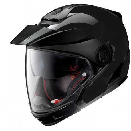 Moto helma Nolan N40-5 GT Classic N-Com Glossy Black