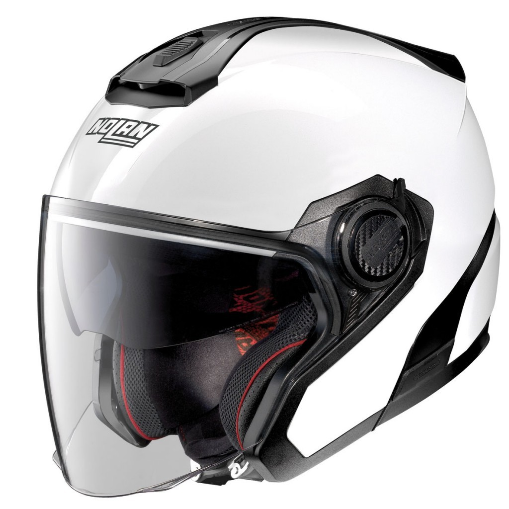 Moto helma Nolan N40-5 Special N-Com Pure White 15