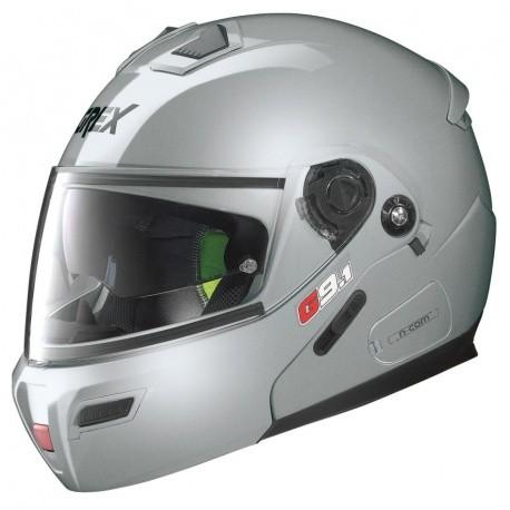 Moto helma Grex G9.1 Evolve Kinetic N-Com Metal Silver 23