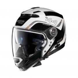 Moto helma Nolan N44 EVO Viewpoint N-Com Metal White 52
