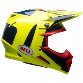 Moto helma Moto-9 Flex Vice Blue/Yellow - L