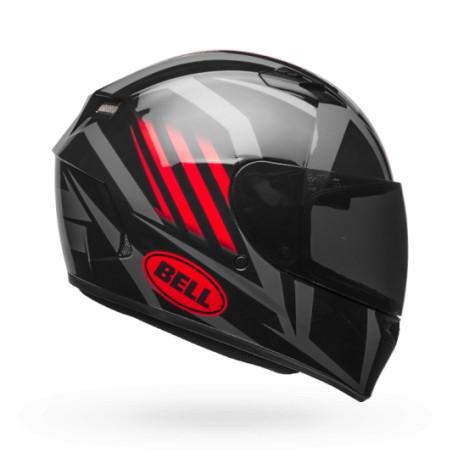 Moto helma Bell Qualifier Gloss Black/Red/Titanium Blaze - XL