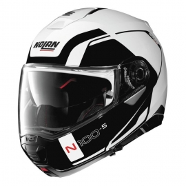 Moto helma Nolan N100-5 Consistency N-Com Metal White 19