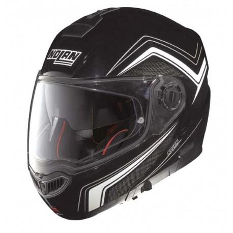 Moto helma Nolan N104 Absolute Como N-Com Metal Black 54