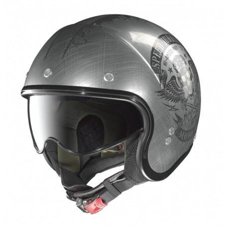 Moto helma Nolan N21 Speed Junkies Scratched Chrome 32