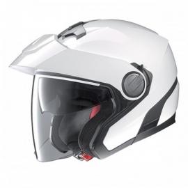 Moto helma Nolan N40 Classic Plus N-com Metal White 18