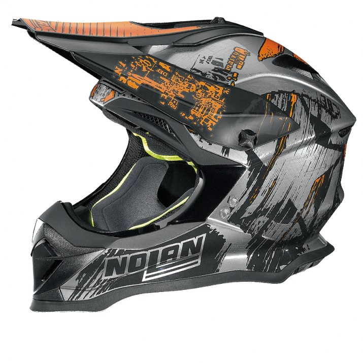 Moto helma Nolan N53 Cliffhanger Scratched Chrome 27