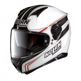 Moto helma Nolan N87 Rapid N-Com Metal White 17