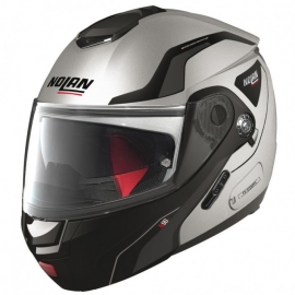 Moto helma Nolan N90-2 Straton N-Com Flat Silver 16