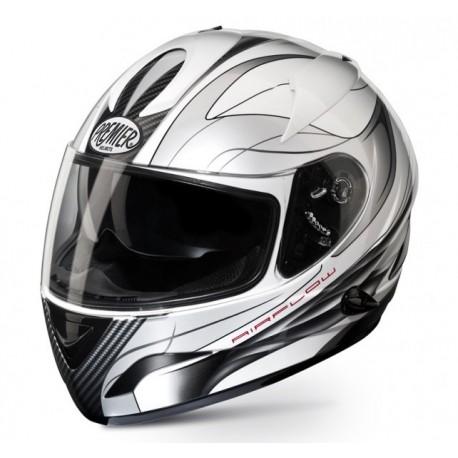 Moto helma Premier Phase TT8, bílá
