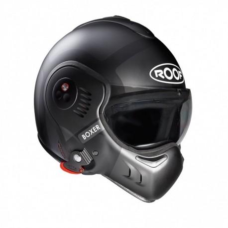 Moto helma Roof Boxer V8 Bond Titan, černá matná