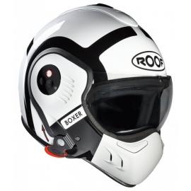 Moto helma Roof Boxer V8 Bond, bílo černá
