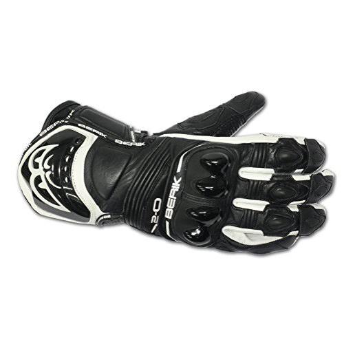 Kožené moto rukavce Berik G-10579-BK, černé