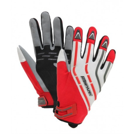 Pánské textilní moto rukavice Spark Cross, červené
