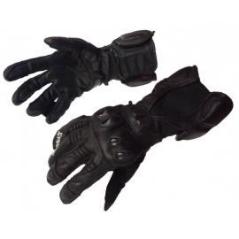 Pánské kožené moto rukavice Spark GP, černé švy bez záruky