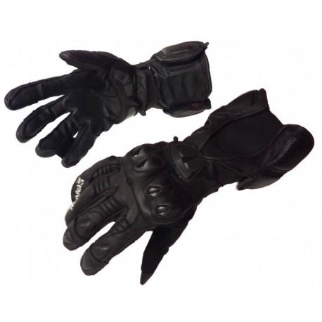 Pánské kožené moto rukavice Spark GP, černé