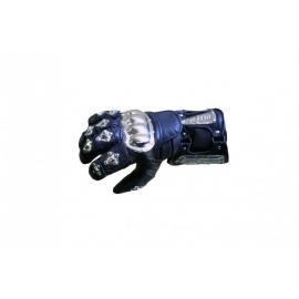 Pánské kožené moto rukavice Spark Metal Colour, modré
