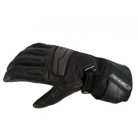 Pánské kožené moto rukavice Spark STT, černé - sleva na svrchní textilní materiál