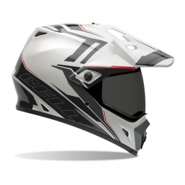 Moto helma Bell MX-9 Adventure Barricade White