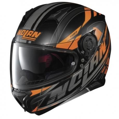 Moto helma Nolan N87 Fulmen N-Com Flat Black 52 - S