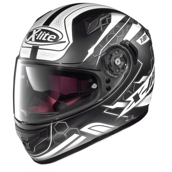 Moto helma X-Lite X-661 Honeycomb N-Com Flat Black 31