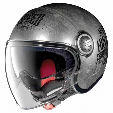 Moto helma Nolan N21 Visor Moto GP Legends Scratched Chrome 30 - XL