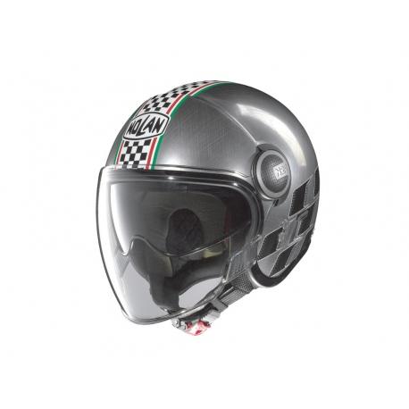 Moto helma Nolan N21 Visor Asso Scratched Chrome 20 - S