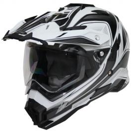 Moto helma Cyber UX-33, černo-bílá