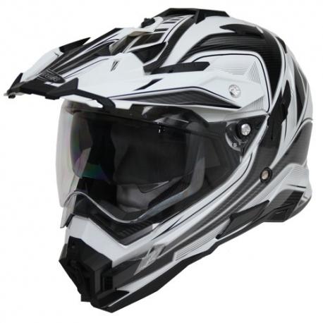Moto helma Cyber UX-33 černo-bílá - M