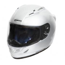 Moto helma Xpeed XF 705 stříbrná