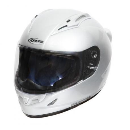 Moto helma Xpeed XF 705 stříbrná - 2XL