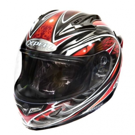Moto helma Xpeed XF 706 Phoenix červená - XL