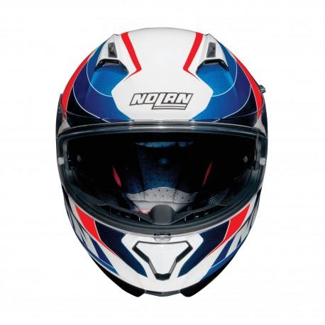 Moto helma Nolan N87 Plein Air N-Com Metal White 50 - M