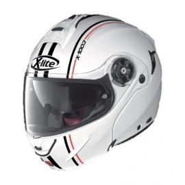 Moto helma X-Lite X-1003 Millstatt N-Com Metal White 15