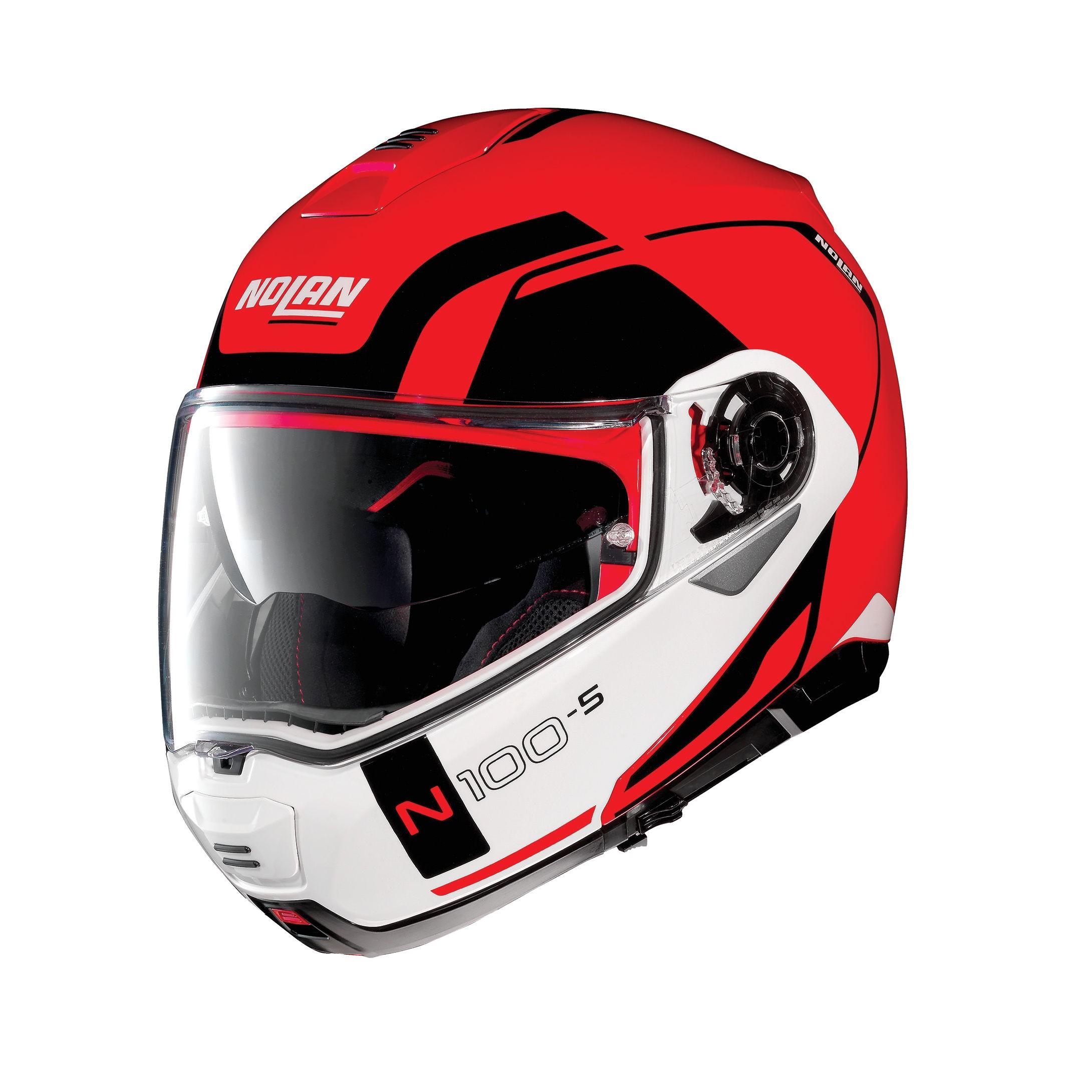 Moto helma Nolan N100-5 Consistency N-Com Corsa Red 23