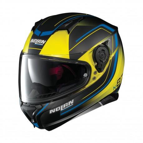 Moto helma Nolan N87 Savoir Faire N-Com Fade Flat Led Yellow 58 - S