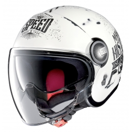Moto helma Nolan N21 Visor Moto GP Legends Scratched Flat White 29