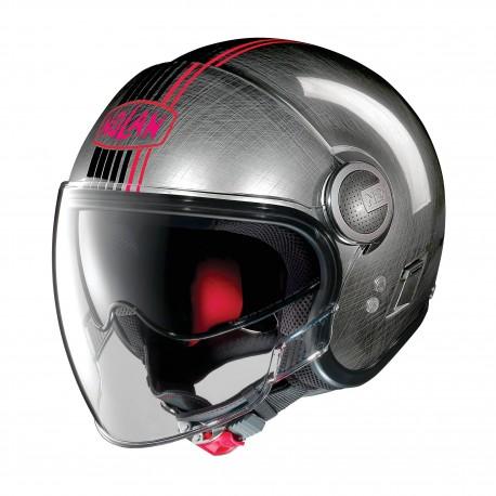 Moto helma Nolan N21 Visor Joie De Vivre Scratched Chrome 44 - L