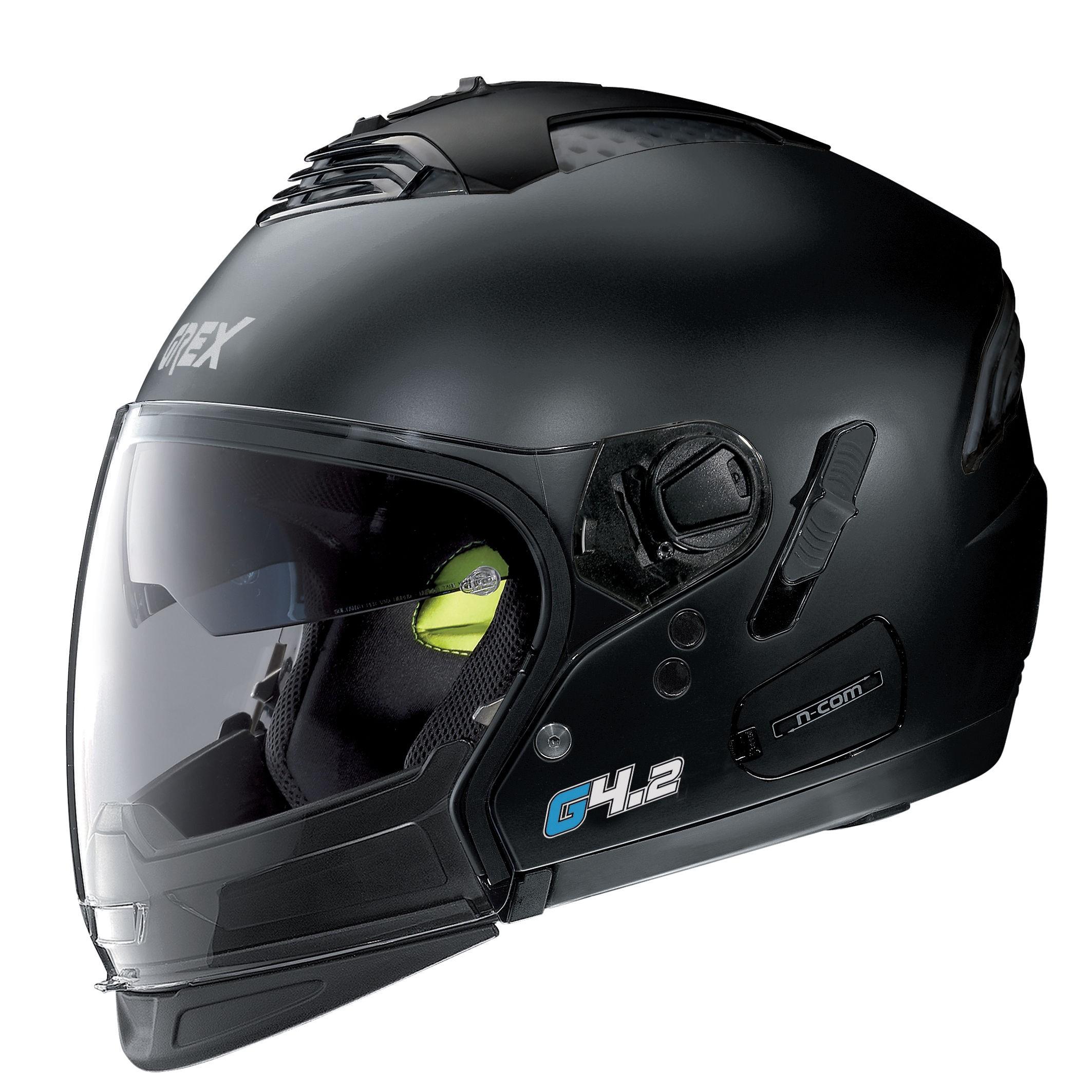 Moto helma Grex G4.2 PRO Kinetic N-Com Flat Black 2