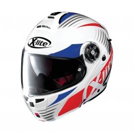 Moto helma X-Lite X-1004 Nordhelle N-Com Metal White 19