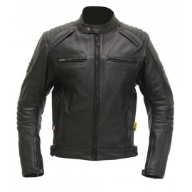 Pánská kožená moto bunda Spark Brono, černá