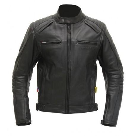 Dámská kožená moto bunda SPARK Brono, černá - 3XL