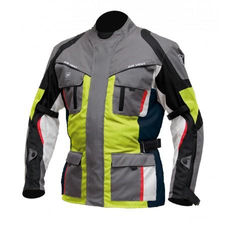 Pánská textilní moto bunda Cyber Gear Tour Long šedá-fluo - M