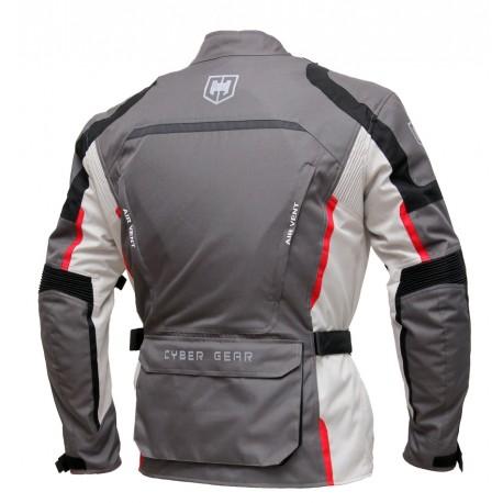 Pánská textilní moto bunda Cyber Gear Tour Long šedá - 6XL