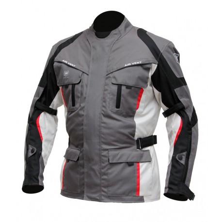 Pánská textilní moto bunda Cyber Gear Tour Long šedá - 4XL