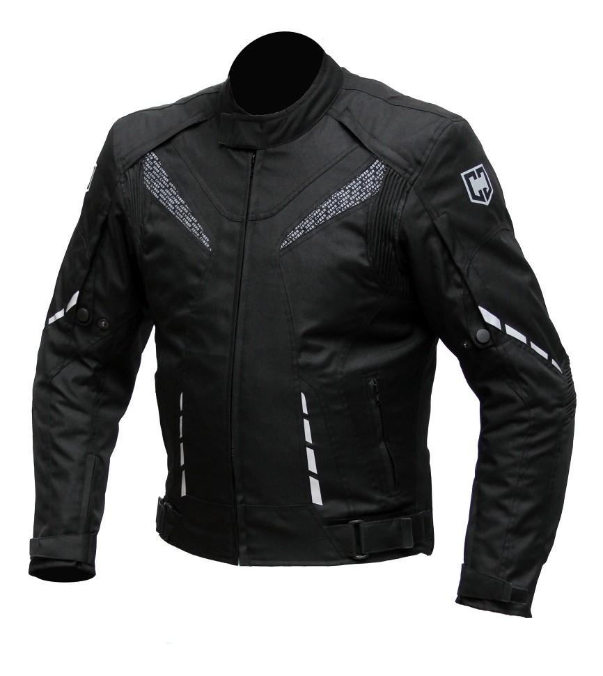 Pánská textilní moto bunda Cyber Gear Strada, černá